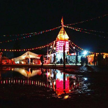 夜のライジングサンロックフェスティバル