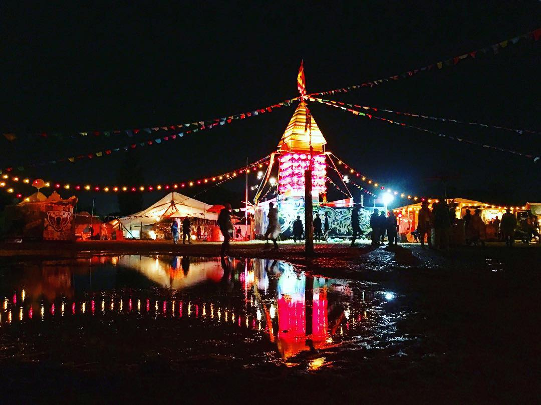 Rising Sun Rock Festival at night