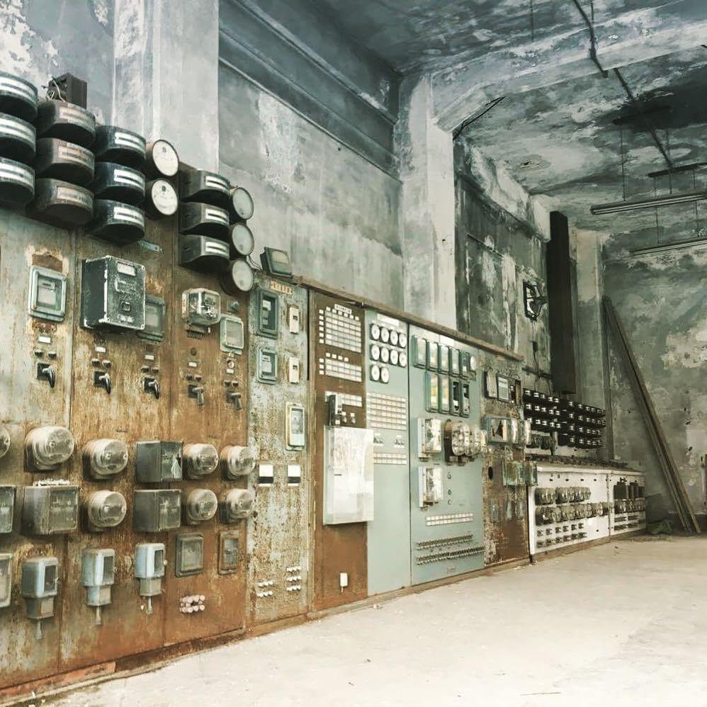 夕張の旧火力発電所