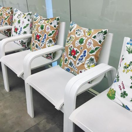 Cushion in Rokkatei Sapporo store