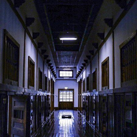 網走刑務所の廊下