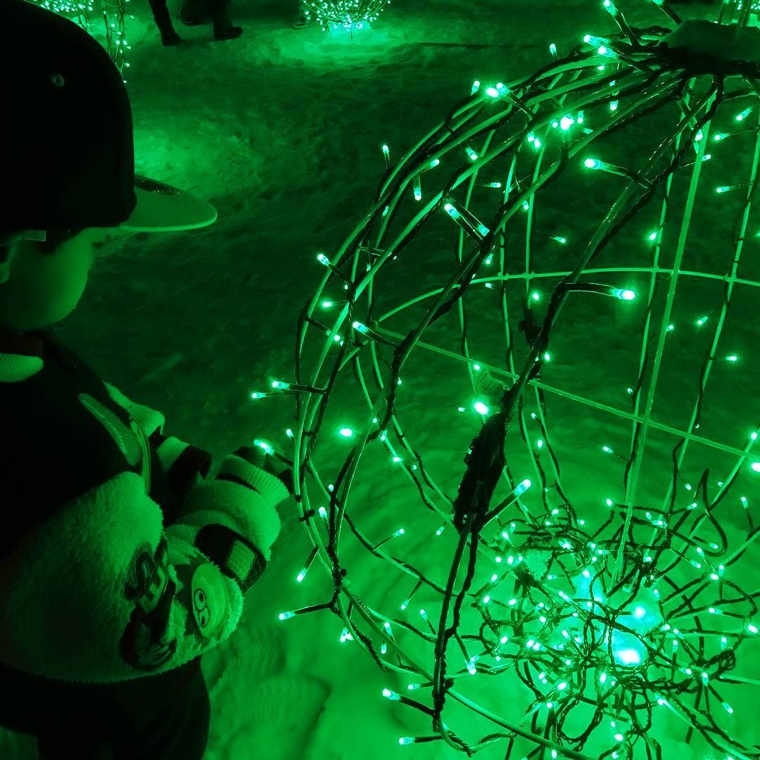 White illumination with children
