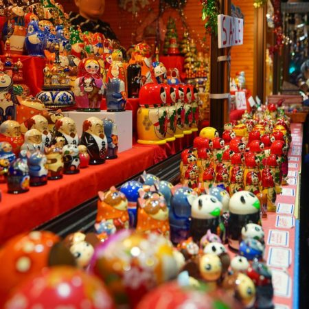 Matryoshka doll of Christmas market