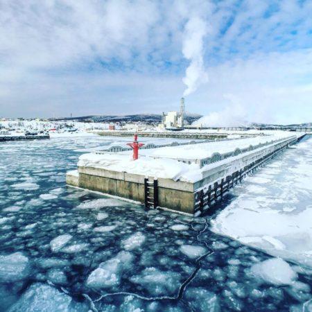 紋別に接岸した流氷