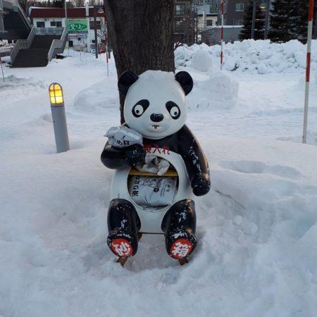 パンダの砂箱