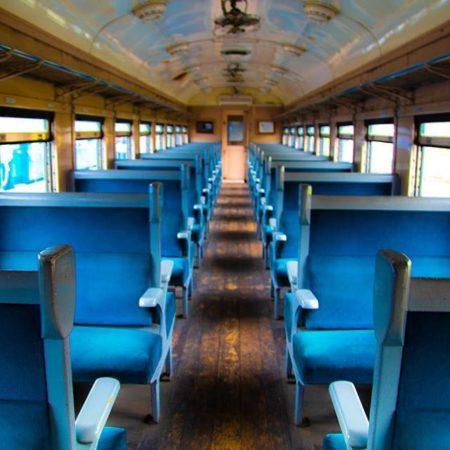 Train seat of Otaru general museum