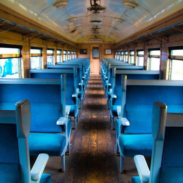 小樽市総合博物館の電車のシート