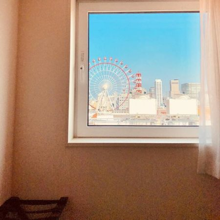 View of Sapporo through the window