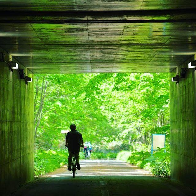 札幌と北広島を結ぶサイクリングロードのトンネル