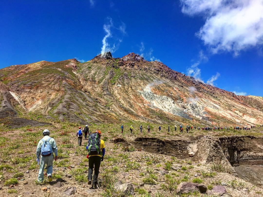 壮瞥町の火山学習