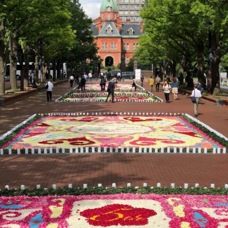 Flower carpet in Sapporo