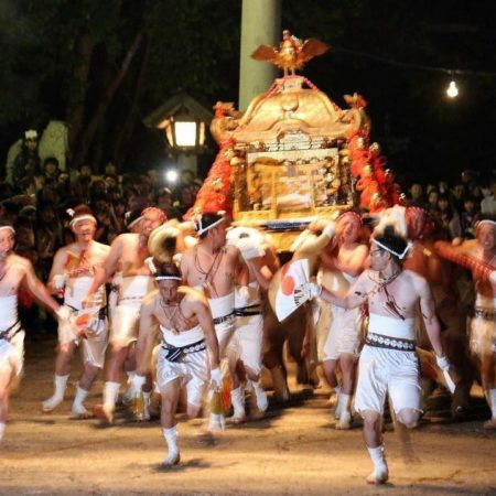 Iwanai shrine regularly held festival