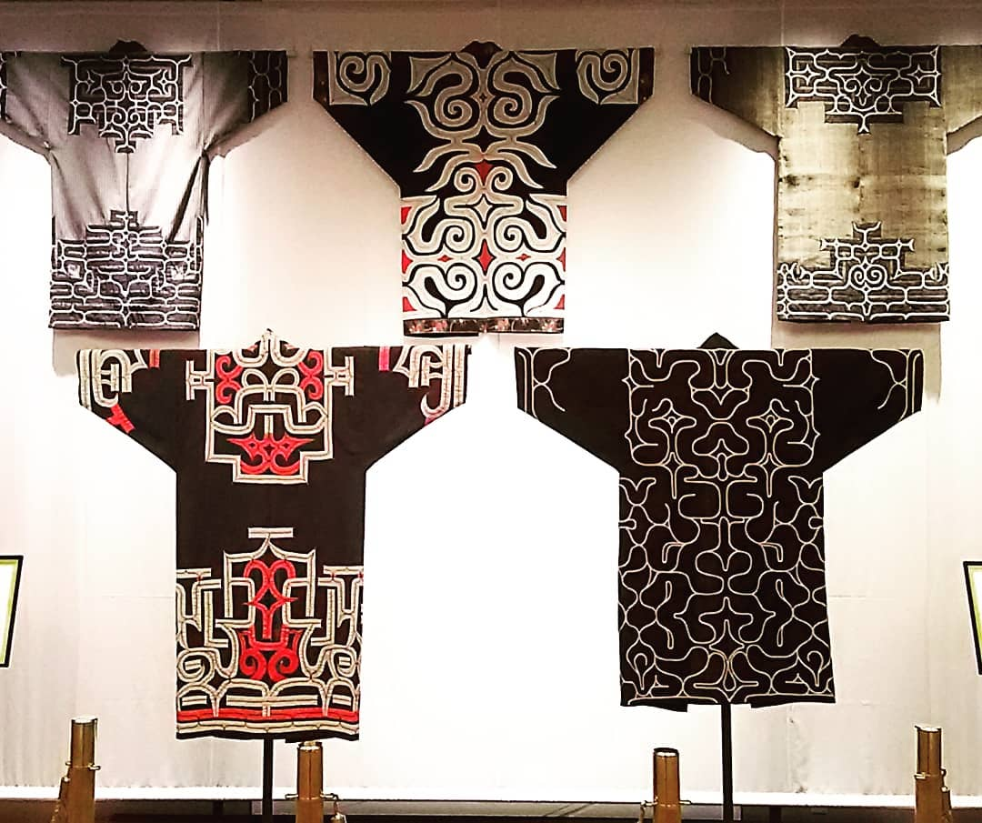 Clothes of Ainu patterns