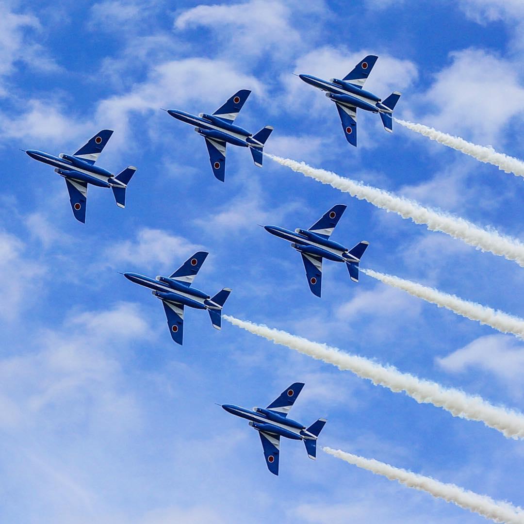 航空祭でのブルーインパルス