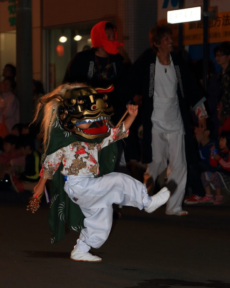 Little Shishimai at Akkeshi summer festival