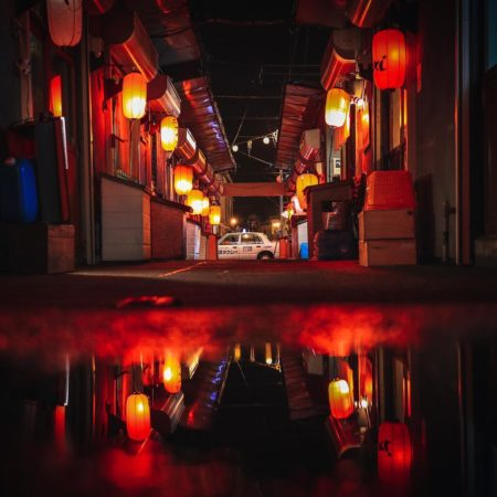Kushiro red lantern alley