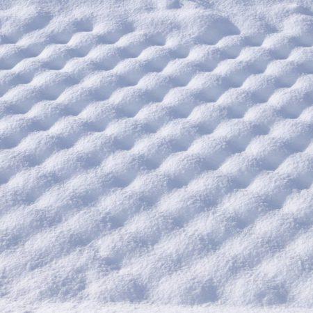 雪でできた模様