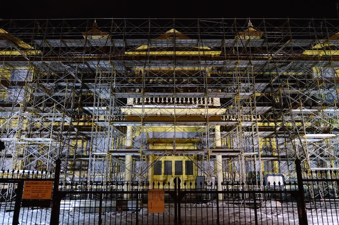 Old public hall of Hakodate ward is under construction