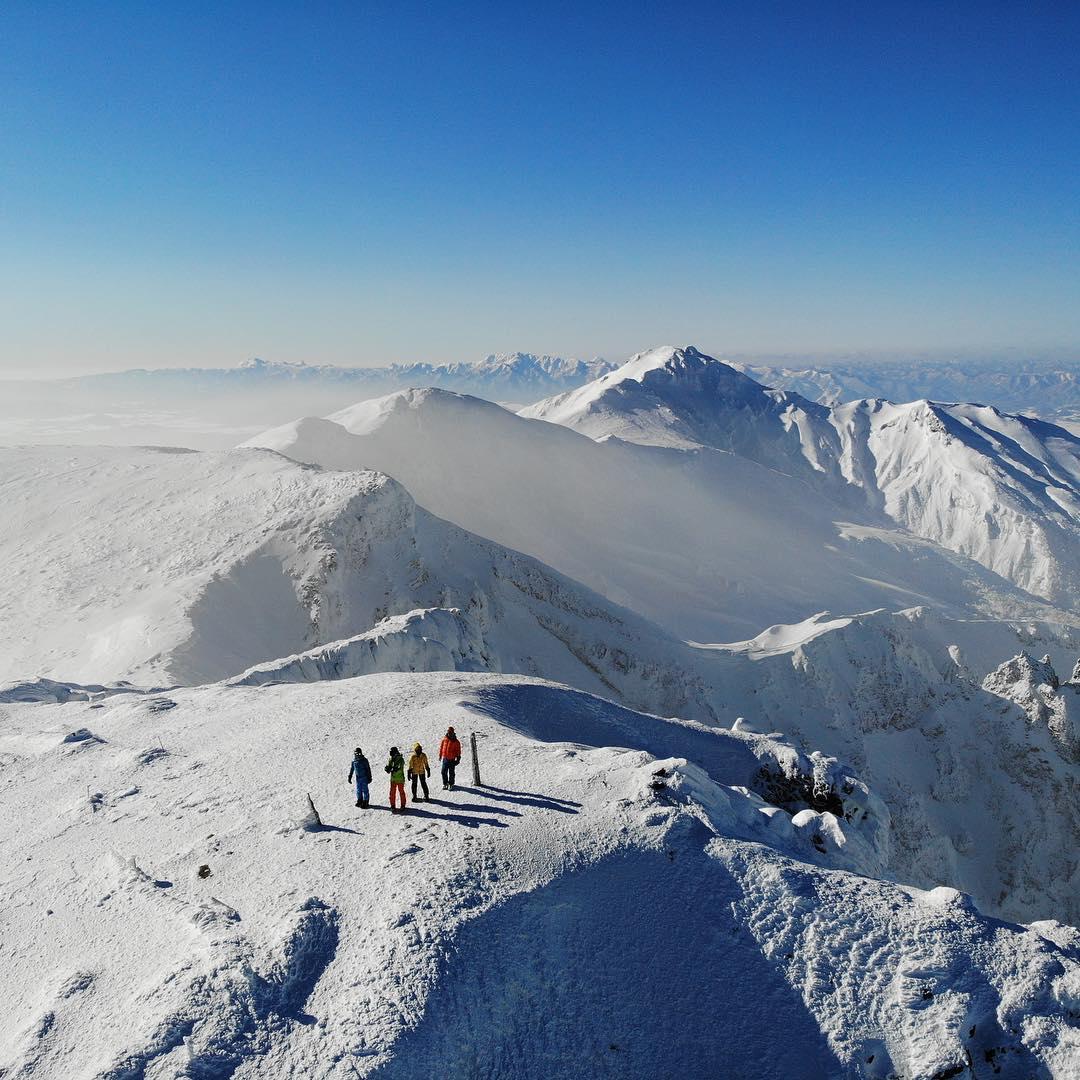 冬の上ホロカメットク山