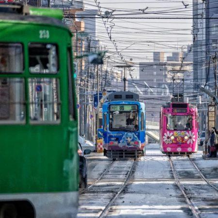 札幌を走る3台の市電