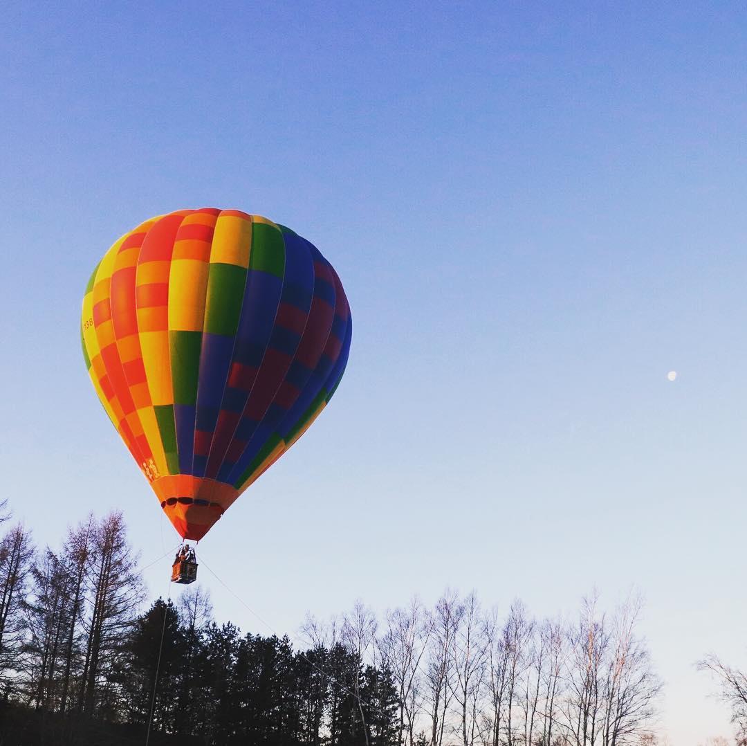 十勝川温泉のカラフルな気球