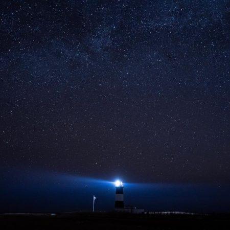 満天の星空の能取岬