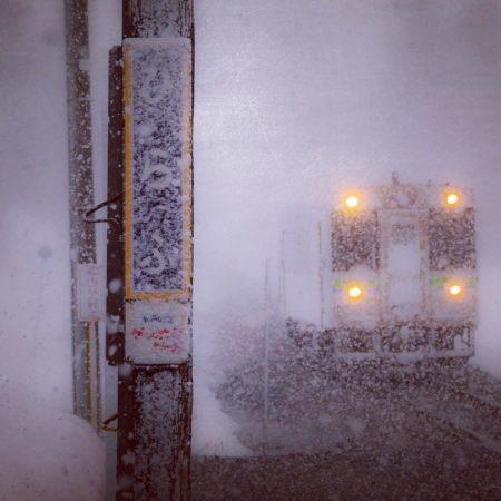 Hirafu Station in winter