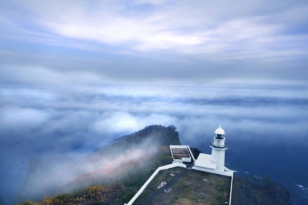 Cape Chikiu surrounded sea fog