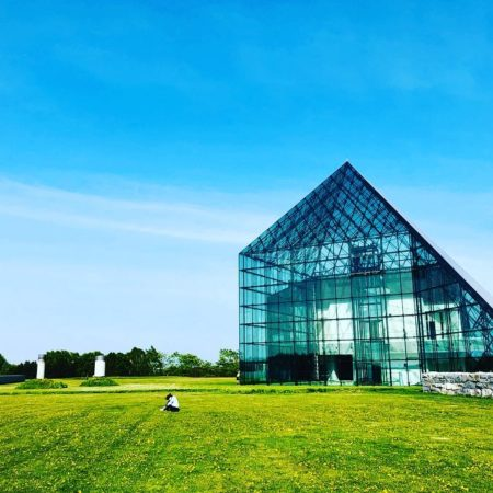 Glass pyramid in Moerenuma Park