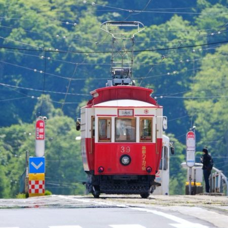 Red train in Hakodate