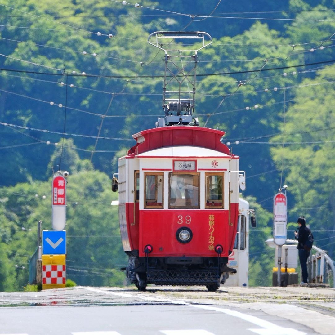 Red train in Hakodate