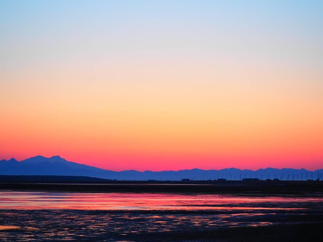 別海町の夕焼け