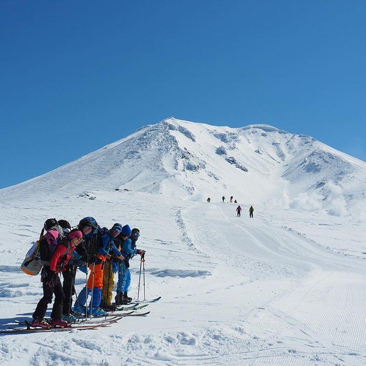 旭岳でのバックカントリー