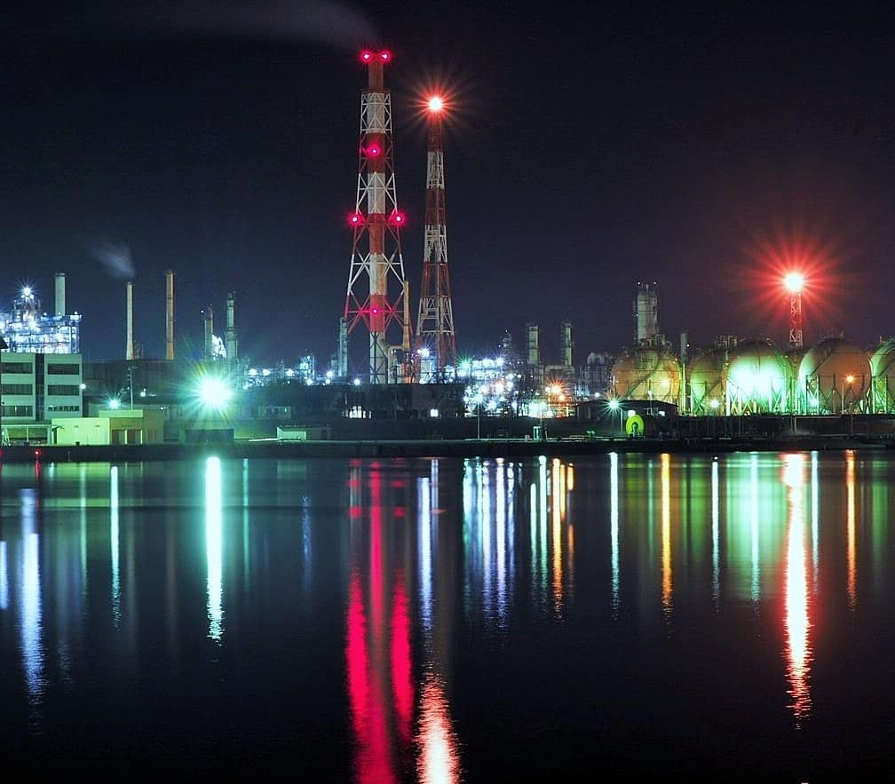 苫小牧市の工場夜景