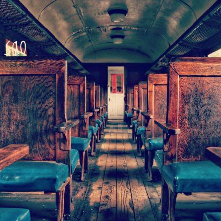 夕張のレトロな列車