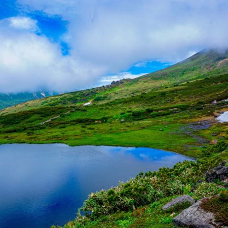 Magnificent natural landscape in Asahidake