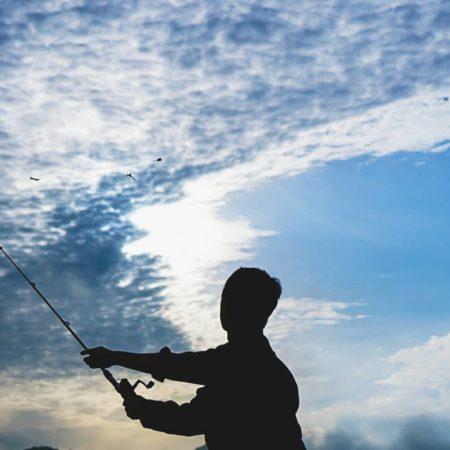 留萌市での釣り風景
