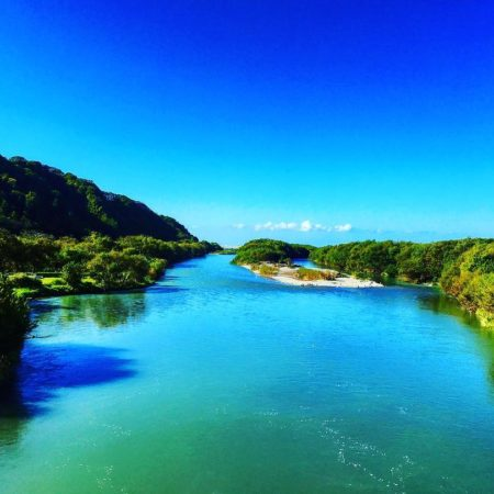 Brilliantly colored Shizunai River
