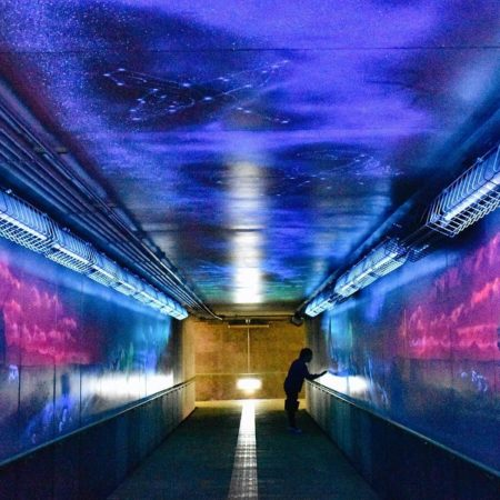 Dreamy underground passage in Sarufutsu