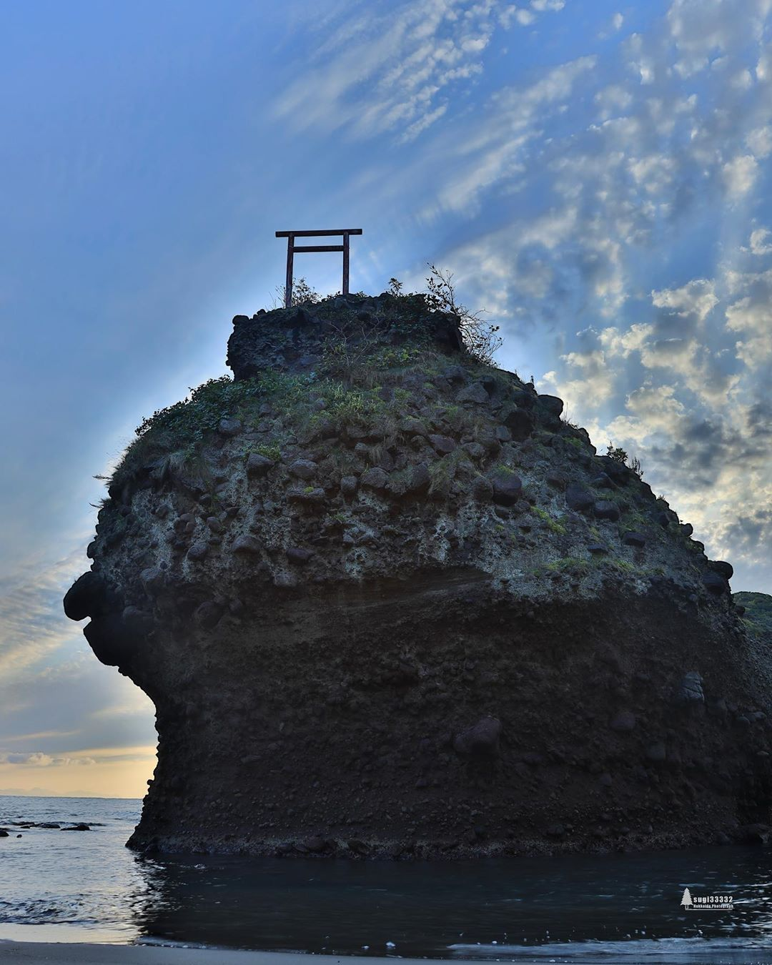 Torii on the rock in Yoichi