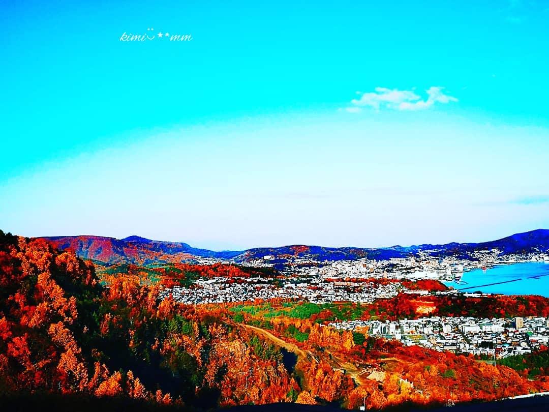 小樽市の紅葉風景
