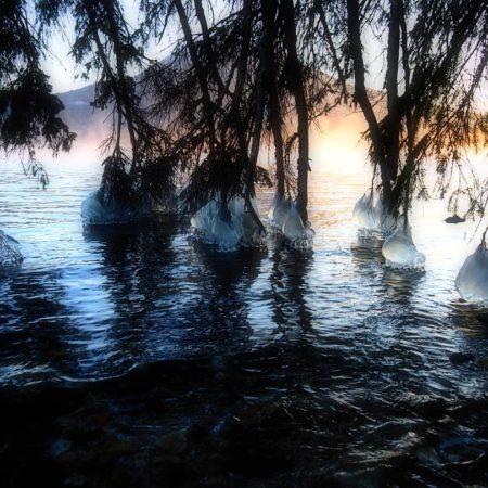 阿寒湖のしぶき氷