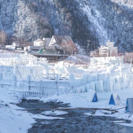 Winter feature in Kamikawa