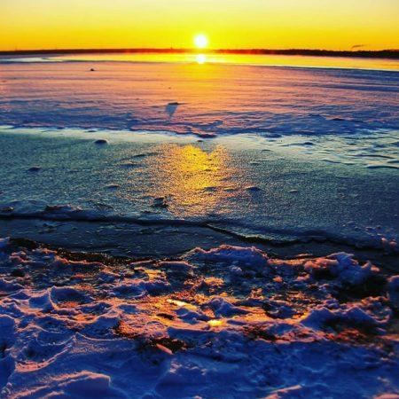 苫小牧市の幻想的なウトナイ湖