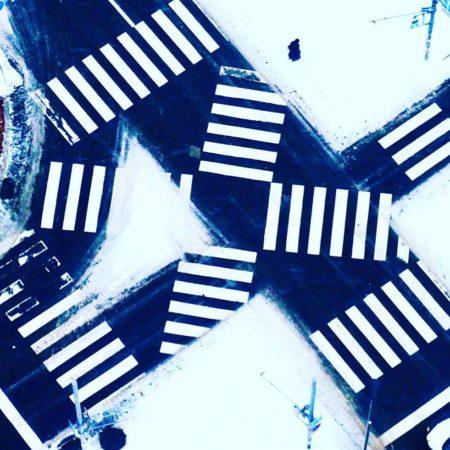 札幌市の冬の横断歩道