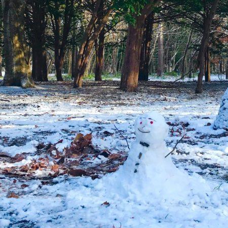 札幌市の真冬日の風景