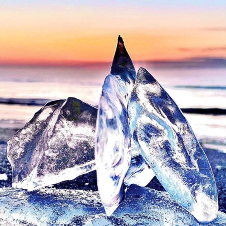 Beautiful jewelry ice in Toyokoro