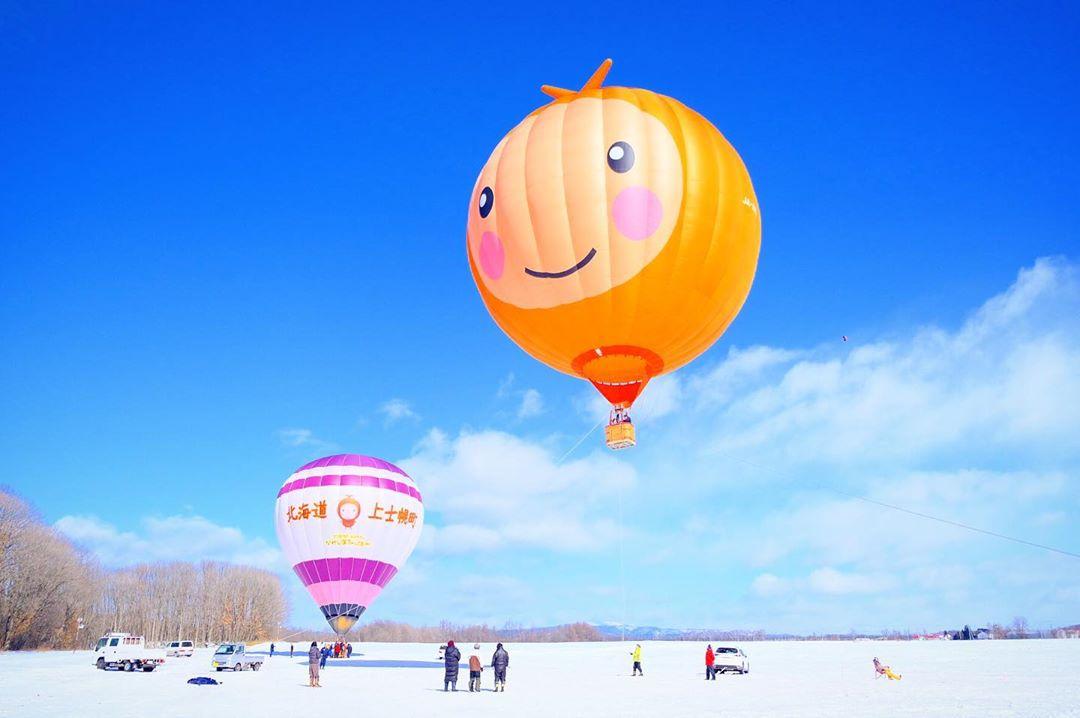 上士幌町の可愛らしい気球