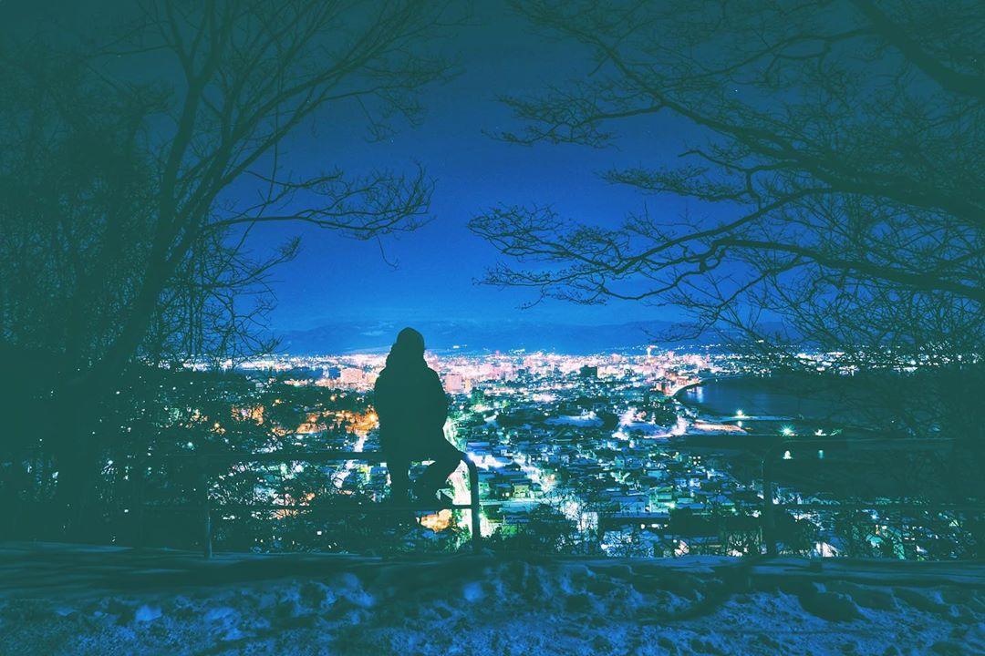函館市の綺麗な夜景