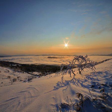 美幌町の美しい雲海と朝日